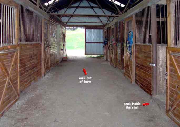 Inside Horse Barn inside horse barn