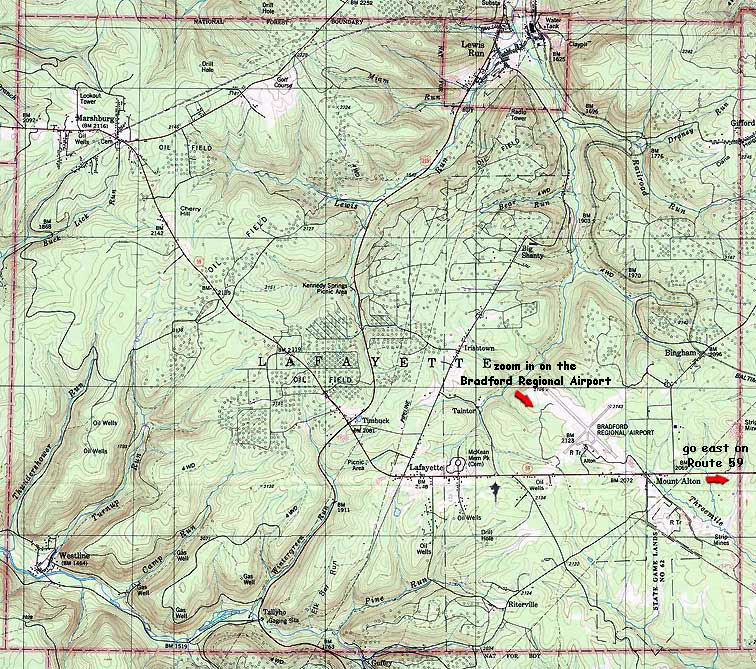 Lafayette Township Mckean County Pa Topographic Map